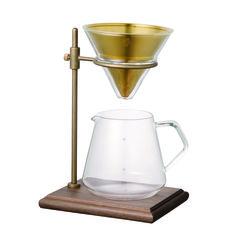 Kinto 50 ml Slow Coffee Kit aus Glas und Edelstahl - Products - Kaffee Coffee Server, Coffee Stands, Coffee Cups, Coffee Maker, Coffee Time, Coffee Creamer, Coffee Coffee, Starbucks Coffee, Drip Coffee