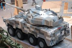 ROC Army Snow Leopard mounting either a or Main Gun Military Armor, Military Gear, Military Equipment, Military Vehicles, Model Ship Building, Model Tanks, Armored Fighting Vehicle, Armours, Tank Design