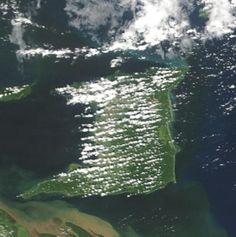 Satellite Photo of Trinidad Island