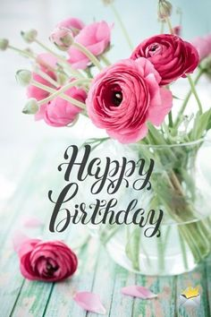 The best Happy Birthday Images - Birthday Wishes! - The best Happy Birthday Images Happy birthday image with flowers. Cool Happy Birthday Images, Happy Birthday Wallpaper, Happy Birthday Wishes Quotes, Birthday Wishes And Images, Happy Birthday Celebration, Birthday Blessings, Happy Birthday Sister, Happy Birthday Cards, Happy Birthday Wishes Flowers