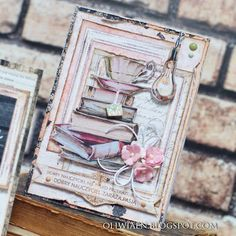 Paper Art, Paper Crafts, Journal Pages, Cardmaking, Scrapbooking, Tags, Card Ideas, How To Make, Shabby Chic