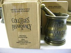 SCHERING MORTAR AND PESTLE - US COLLEGES OF PHARMACY - BRAND NEW FROM THE BOX