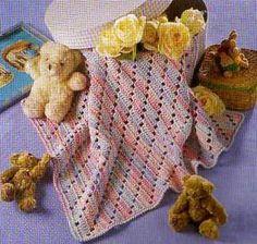 As Receitas de Crochê: Manta para Bebê em crochê
