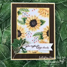 Here is another beauty from the Painted Harvest Stamp Set and Leaf Punch Bundle! This is another one of those cards that the DSP does all the work for you! This is another beautiful pattern from th…