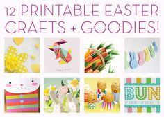 Freebie Alert: 12 Printable Easter Crafts and Goodies!
