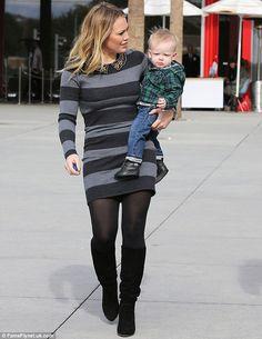 Tight Sweater Dress in Public | ... off! Hilary Duff shows off her svelte figure in tight sweater dress