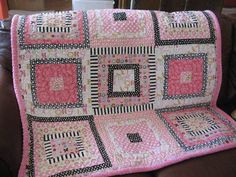 Pink with black and white...this is for sale but it gives great inspiration for free!
