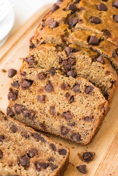 Healthy banana bread made with Greek yogurt—it's so fluffy, moist and delicious that no one will be able to tell! @wellplated