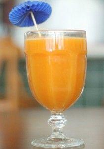Receita de suco de laranja com cenoura e gengibre