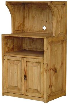 Pine Microwave Stand