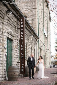 Urban Wedding Photography, Toronto Wedding Photography, The Fermenting Cellar Modern Wedding Venue, Wedding Ceremony Backdrop, Toronto Wedding, Dream Wedding, Wedding Venues, Fall Wedding Bridesmaids, Outdoor Wedding Photography, Photography Ideas, Industrial Wedding