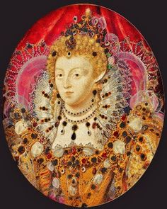 Elizabeth I by Hilliard (and studio). Hilliard's studio contained - presumably - a number of talented assistants who could keep up a production line of Gloriana images.
