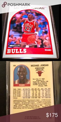 1989 NBA HOOPS MICHAEL JORDAN #200 BULLS SHARP! 1989 NBA Hoops Basketball #200 Michael Jordan Chicago Bulls HOF Sharp!  Beautiful condition.   Been in storage as part of 1989 Hoops complete set which is available to purchase. Please feel free to make an offer or ask any questions.  Professionally packaged and shipped NBA Other