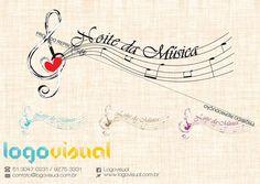 Logo finalizando para o projeto Noite de Musica para Miriã Jhonatas de Vassouras - RJ . Logovisual musicalmente criativa.