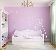 Dandelion Wall Decal Large