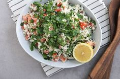 Tabboulehsalad is a delicious staple in Middle Eastern cultures, but most recipes feature bulgur wheat. Here is acauliflowertabbouleh salad.