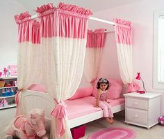Best Images Girls bedroom ideas only on #Hello kitty bedroom decorations | Princess room, Girls bedroom canopy and Diy little girls room.
