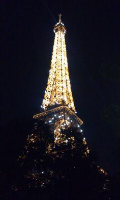 The Eiffel Tower at night #iloveparis