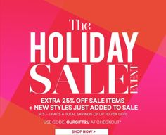 The Holiday Sale Event Starts Now! Additional 25% Off Sale Styles - betsy.stepler@gmail.com - Gmail
