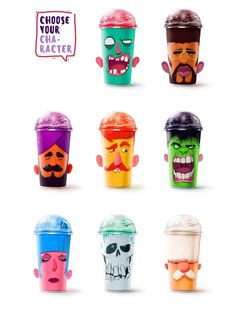 milkshake cups - This branding and packaging concept for 'Shake My Head' milkshake cups by designer Rustam Usmanov offers an eye-catching way to play up...
