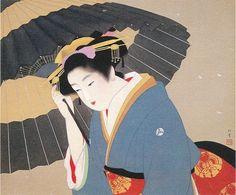 上村松園 Syouen Uemura『雪』個人蔵 Japanese Painting, Chinese Painting, Chinese Art, Geisha, Asian Artwork, Beauty In Art, Snow Art, Bonsai Art, Japanese Aesthetic