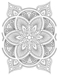 Abstract Mandala Adult Coloring Page Digital by LeeTowleDesigns