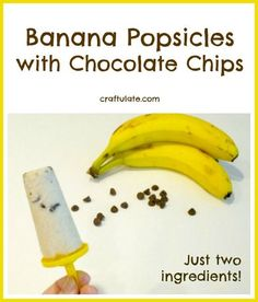 Banana Popsicles with Chocolate Chips