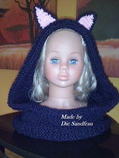 Kapuzen  Mütze mit Ohren von Die Sandfrau auf DaWanda.com