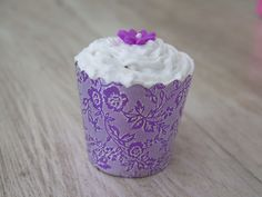 Vanilla, rosewater & poppy flavored Vegan gluten free cupcakes, with coconut cream frosting