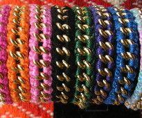 pulseiras de elos cobertas com ponto em croche