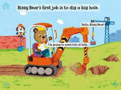Bizzy Bear Builds a House takes your child on a journey of constructing a home. Download KinderTown to learn more and download the app.