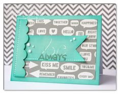 """using #CartaBella """"True Friends"""", ILS """"Why Not"""" collection, wonky scalloped border die from #MyFavoriteThings + stamps from @Paper Smooches"""