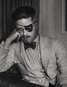 """My mouth is full of decayed teeth and my soul of decayed ambitions. ""  —James Joyce    Photo by Berenice Abbott, 1926."