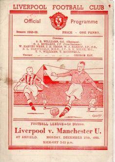 Liverpool Football Club, Liverpool Fc, Gerrard Liverpool, Football Program, Manchester United, Programming, Soccer, English, Retro
