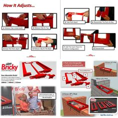 The New Bricky® Adjustable Wall Building Tool.      New Adjustable Model