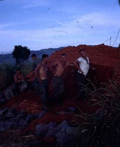 Filling Sand Bags, Dak To, 173rd Airborne, Command Section, November, 1967