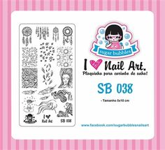 Small Nail Art Stamping Plate Sugar Bubbles SB 038