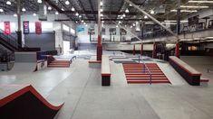 Interior Walls, Interior Design, Skate Park, Stairs, Backyard, Layout, Indoor, Orange, Skateboarding