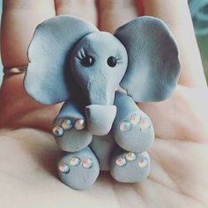 Gorgeousso cute. Great job..!!Credit: @jlpkcrafts -  This little lady is looking for a home! 10 plus p&p just get in touch if you want to adopt her  . #elephant #elephants #elephantlove