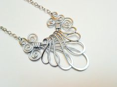 VICTORIAN FAN NECKLACE  Choose your own Color by RefreshingDesigns, $24.00