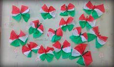 kokárda pillangó (krepp papír) Dyi