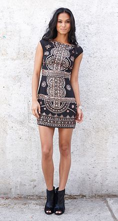 cap sleeve baroque dress