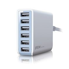 Photive 50 Watt 6 Port USB Desktop Rapid Charger. Intelligent USB Charger with Auto Detect Technology Photive http://smile.amazon.com/dp/B00LMIA9L4/ref=cm_sw_r_pi_dp_CGOuub08D6PXA