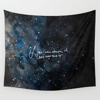Wall Tapestries featuring You can do it by Betul Donmez