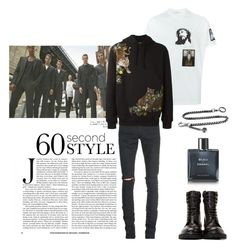 """My Boyfriend's Outfit No.5"" by m-rossetti ❤ liked on Polyvore featuring Givenchy, Yves Saint Laurent, Dolce&Gabbana, Chanel, men's fashion, menswear, DRAKE, views and 60secondstyle"