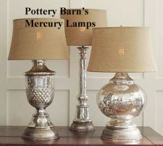 DIY Antique Mercury Glass Lamp Bases (turn old glass lamps into new stylish accents)