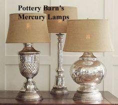 Seren Antique Mercury Glass Lamp Bases copy