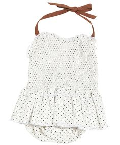 baby baby playsuit black + white polka dot, caramelbaby