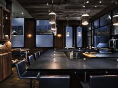 A super #sleek #concrete #countertop #install by #OSO Industries in the luxe #Atera #restaurant in #NYC by Parts and Labor Design. #TOWN #TOWNAZ #TOWNshowroom #TOWNstudio #interior #design #home #lifestyle #decor #interiordesign #furniture #custom