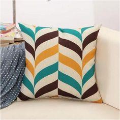 Geometric Swirls, Retro Pattern Throw Pillows